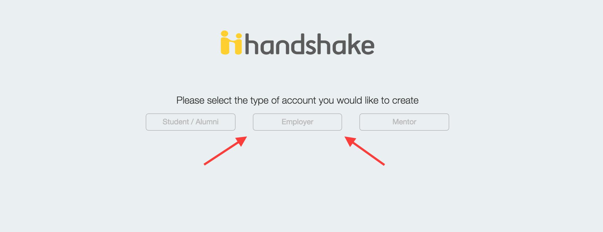 handshake login screenshot