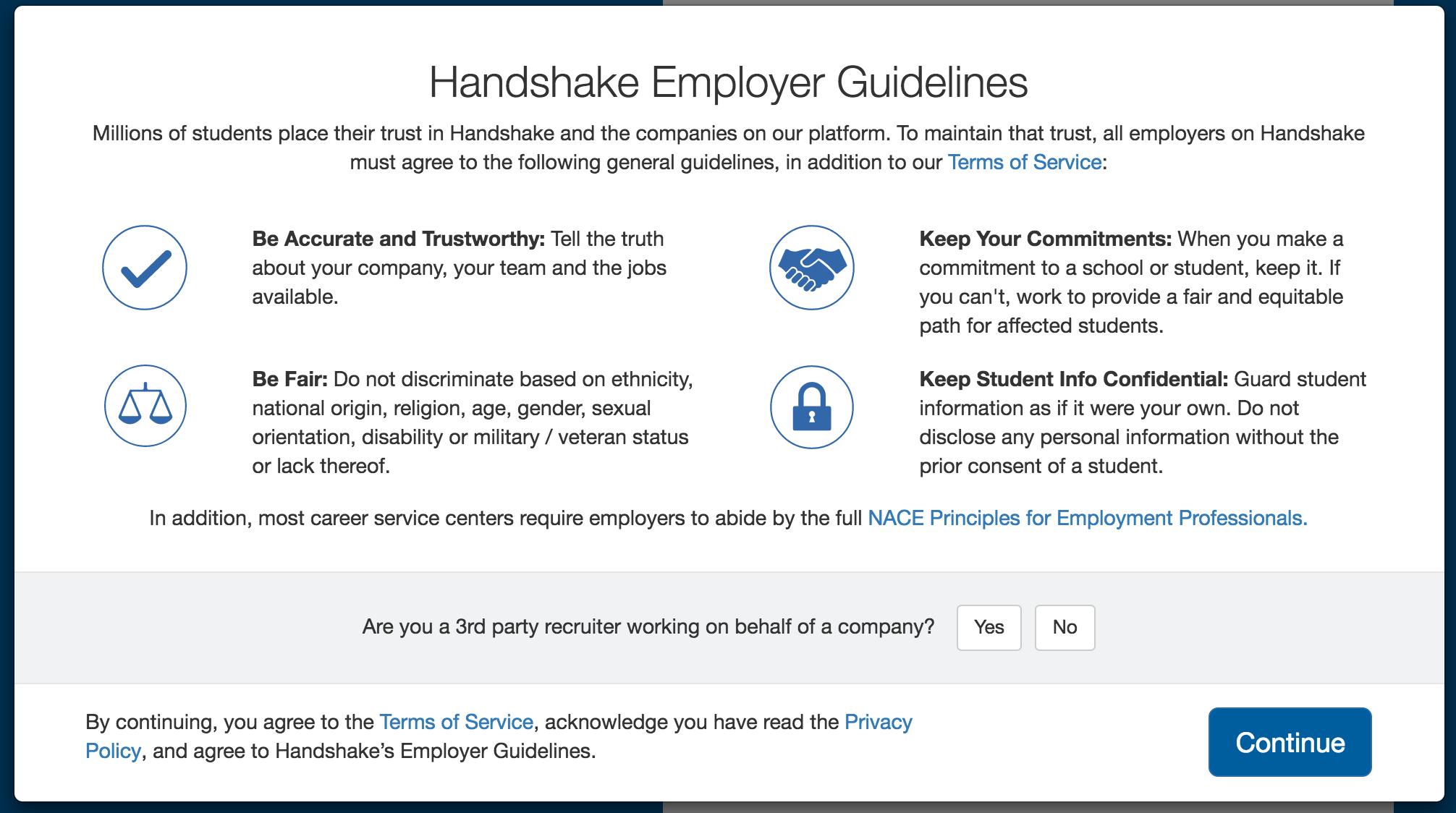 handshake user guide screenshot
