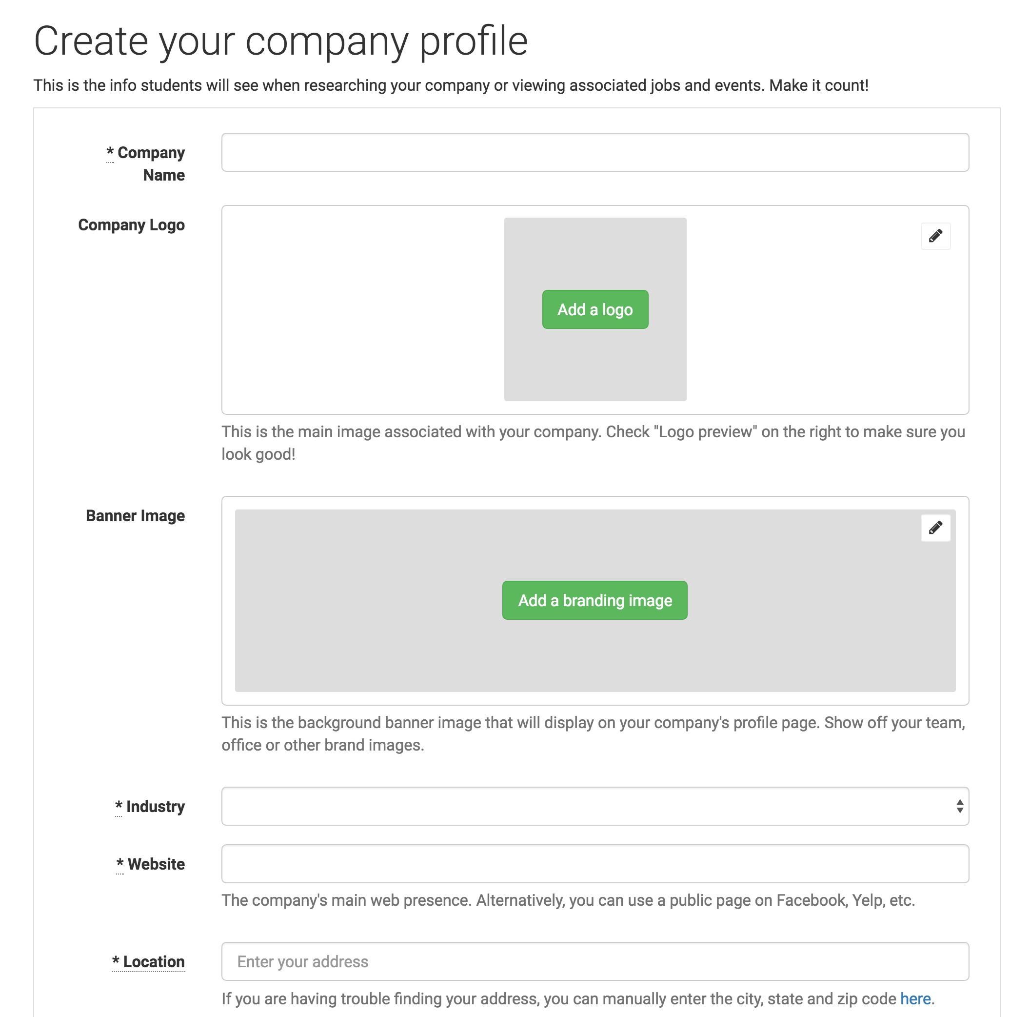 Handshake company profile screenshot